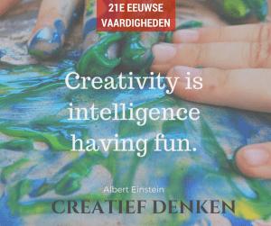 21e eeuwse vaardigheden en dan? 1. Creativiteit